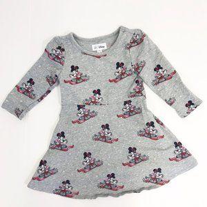 baby GAP & Disney Minnie Mouse Skiing Skater Dress